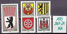 Buy GERMANY DDR [1983] MiNr 2817-21 ( **/mnh ) Wappen