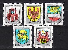 Buy GERMANY DDR [1985] MiNr 2934-38 ( OO/used ) Wappen