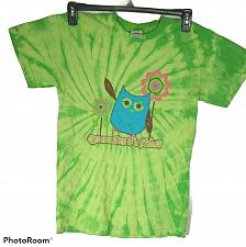 Buy Women's Owl T-Shirt Size Small Gymnastics is a Hoot Green Tie Dye Graphic