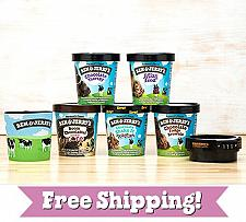 Buy Ben & Jerry's Chocolate Ice Cream Gift Pack Fast Free shipping Package tight