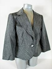 Buy SWEET SUIT womens Sz 12 L/S gray ONE BUTTON jacket (A4)
