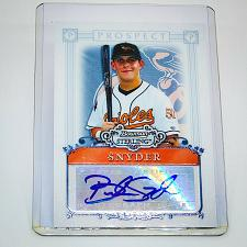 Buy MLB BRANDON SNYDER ORIOLES AUTOGRAPHED 2006 BOWMAN STERLING ROOKIE PROSPECT MINT