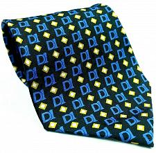 Buy Decision One Mortgage Finance Lending Company Black Blue Gold Novelty Silk Tie