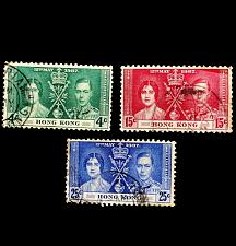 Buy Hong Kong 1937 Royal Coronation Omnibus Set Of 3 SG# 137-139 Postage Stamps Used