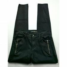 Buy Joes Jeans Womens Rollin Zip Pocket Skinny Jeans Size 27 Solid Coated Black