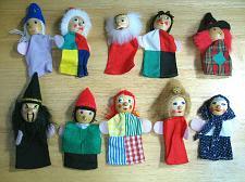 Buy Vintage German Finger Puppets Wood Peg Heads LOT of 10