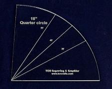 "Buy Quarter Circle 18""- 1/4"" Clear Acrylic"