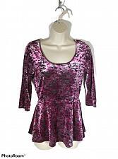 Buy Decree Women's Medium Sheer Pink & Black Animal Print Long Sleeve Top