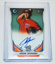 Buy MLB JACOB JOHANSSEN NATIONALS AUTOGRAPHED 2014 BOWMAN CHROME FIRST ROOKIE MNT