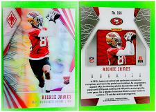 Buy NFL RICHIE JAMES SAN FRANCISCO 49ERS 2018 PANINI PHOENIX REFRACTOR RC #166 MINT
