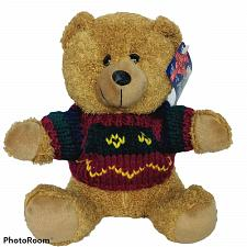 Buy NWT A Mart Brown Christmas Teddy Bear with Sweater Plush Stuffed Animal 8.5""