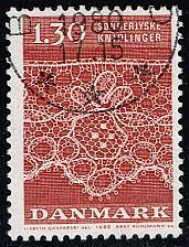 Buy Denmark #676 Tonder Lace Patterns; Used (3Stars) |DEN0676-01XBC