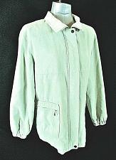 Buy GALLERY womens Large L/S light green faux SUEDE full zip fully LINED jacket (B3)