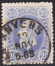 Buy BELGIEN BELGIUM [1869] MiNr 0028 a ( O/used )