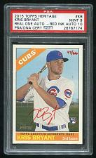 Buy 2015 TOPPS HERITAGE REAL ONE RED AUTO KRIS BRYANT PSA 9 MINT AUTO 10 (26767174)