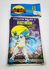 Buy Vintage Batman Stationery 8 Party Invitations Envelopes Sealed 1982 DC Comics