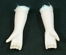 """Buy Vintage Bisque Porcelain Doll Arms and Hands 2 1/2"""" Overall Flange Style"""