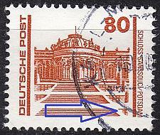 Buy GERMANY DDR [1990] MiNr 3349 F63 ( OO/used ) [01] Bauwerke Plattenfehler