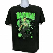 Buy Big Bang Theory Sheldon Bazinga Universe T-Shirt Large Black Short Sleeve