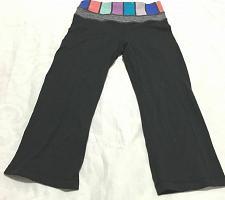 Buy Lululemon Cropped Capris Multi Color Block Waist Size 2