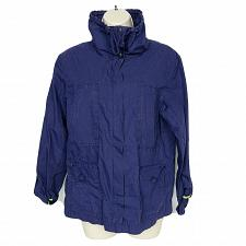 Buy Eddie Bauer Womens Utility Jacket Size Medium Purple Zip Up Long Sleeve