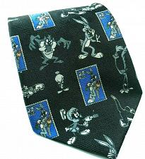 Buy Looney Tunes Stamp Collection Bugs Taz Tweety Marvin Black White Novelty Tie