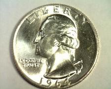 Buy 1964-D WASHINGTON QUARTER CHOICE UNCIRCULATED / GEM+ CH. UNC. / GEM+ ORIGINAL