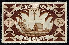 Buy French Polynesia #136 Ancient Double Canoe; Unused (0.40) (1Stars) |FRP0136-04