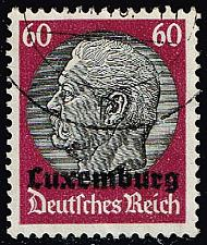 Buy Luxembourg #N14 Hindenburg - German Occupation; Used (4Stars) |LUXN14-01XRP