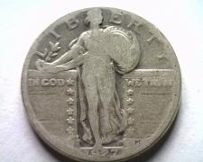 Buy 1927-D STANDING LIBERTY QUARTER GOOD G NICE ORIGINAL COIN BOBS COINS FAST SHIP