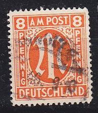 Buy GERMANY Alliiert AmBri [1945] MiNr 0014 A ( O/used )