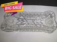 Buy ABP American Brilliant Period Cut Glass tray Antique