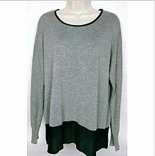 Buy Two By Vince Camuto Women's Boat Neck Sweater Size Medium Gray Black