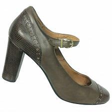 Buy Clarks Indigo Womens Brown Leather Lizard Print Mary Jane Pumps Size 8 M