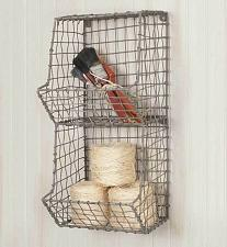 Buy Hanging Small Wire Wall General Store Storage Organizer Basket Farmhouse Country