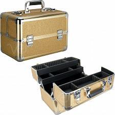 Buy Makeup Train Case Organizer Cosmetic Beauty Travel Storage Aluminum Box Key Lock
