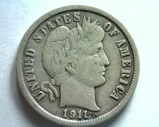 Buy 1911 BARBER DIME VERY FINE / EXTRA FINE VF/XF VERY FINE / EXTREMELY FINE VF/XF