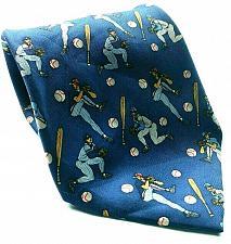 Buy Baseball Pitcher Batter Balls Bats Outfielder Infielder Novelty Silk Tie