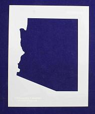 """Buy State of Arizona Stencil 14 Mil 8"""" X 10"""" Painting /Crafts/ Templates"""