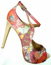 Buy Steve Madden Womens Hottness Multi-color Floral Open Toe Pump Shoes Size 10 M