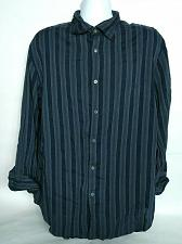 Buy Armani Collezioni Men's Dress Shirt Size XXL Blue Gray Striped Long Sleeve