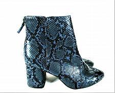 Buy Old Navy Blue Black Snakeskin Pattern Heels Ankle Boots Women's 9 (SW3)