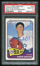 Buy 2014 TOPPS HERITAGE REAL ONE AUTO AARON SANCHEZ, PSA 10 GEM MINT (26927400)