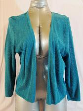 Buy J JILL WOMENS Large juniors LONG SLEEVE TURQUOISE LIGHT SWEATER (C)