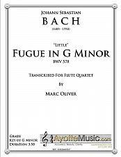Buy Bach - Little Fugue in G Minor for Flute Quartet