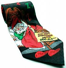 Buy Santa Claus Sleeping Do Not Disturb Until Dec 24th ZZZZ's Novelty Silk Tie