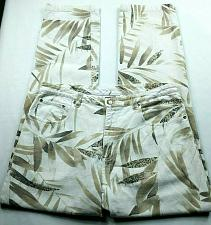 Buy Chicos Design Women's Straight Leg Jeans 1.5 Medium Palm Leaves Colored