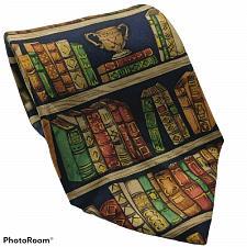 Buy Alynn Neckwear Ex Libris Library Books Bookshelf Novelty Silk Necktie