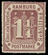 Buy Germany-Hamburg #24R Coat of Arms - Reprint; MNH (4Stars) |HAM24R-01XRP