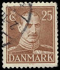 Buy Denmark #283 King Christian X; Used (3Stars) |DEN0283-03XRS